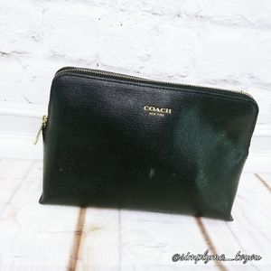 Coach Black Leather Makeup Pouch
